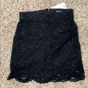 Terranova Black Lace Mini Skirt Size XS